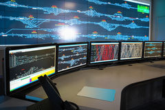 Control room of railway Royalty Free Stock Photo