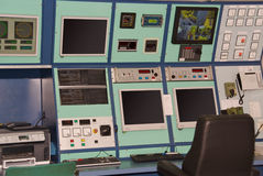 Control Room on a ship Stock Images