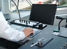 Control Room on a ship Royalty Free Stock Images
