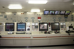 Control Room for Ships Engineer Stock Image