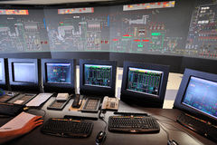 Control room in waste to energy power plant Royalty Free Stock Photos