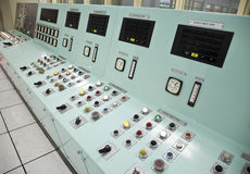 Control room of a water treatment plant Royalty Free Stock Photography