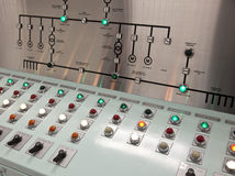 Control room of a water treatment plant Royalty Free Stock Images