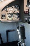 Control stick and flight instruments Royalty Free Stock Images