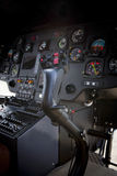 Control stick in helicopter cockpit Stock Images