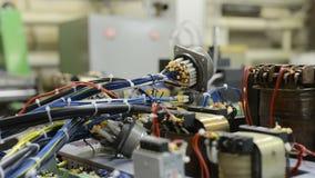 The control system of a modern CNC machine. Cable harnesses. Assembling the control system of a modern CNC machine. Cable harnesses stock video