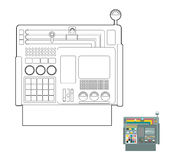 Control system. System Center Panel for  production. Industrial Royalty Free Stock Photo