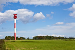 Control Tower. This image shows a old control tower for ships stock photo