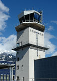 Control tower. An aerodrome flying control tower Stock Image