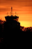 Control tower. In the small city Ängelholm in Sweden Stock Images