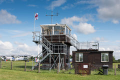 Control tower at airfield Stock Photos