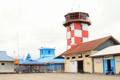 Control tower at airport in Nabire Stock Photo