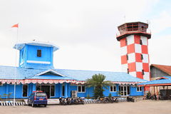 Control tower at airport in Nabire Royalty Free Stock Images