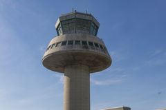 Control tower in Barcelona Airport, Catalonia, Spain. Stock Images