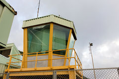 A control tower at a caribbean airport Stock Photography