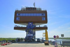 Control tower at Danube channel in Slovakia Stock Images