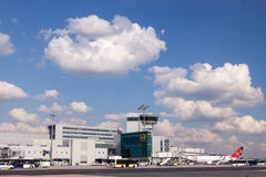 Control Tower at Frankfurt Main Airport Royalty Free Stock Images