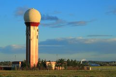 Control tower at Gdansk airport, Poland Stock Photo