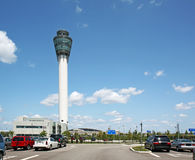 Control tower at Indianapolis International airpor Stock Images
