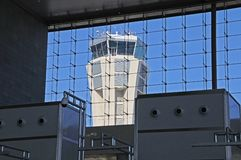 Control tower, Malaga airport. Royalty Free Stock Photos