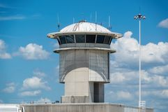 Control Tower. ORLANDO, USA - AUGUST 19th, 2017: Image of a control tower at Orlando Airport.  Florida, USA Stock Photo
