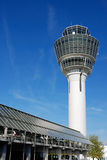 Control tower with parking deck. At munich airport, germany Stock Image