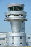 Control tower on Poznan Lawica airport. Royalty Free Stock Images