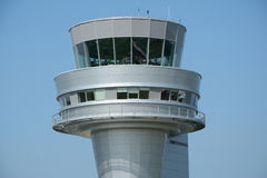 Control tower on Poznan Lawica airport. Stock Photo