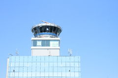 Control tower at Prague airport Royalty Free Stock Images
