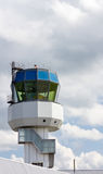 Control tower of regional airport. On a cloudy day Royalty Free Stock Photos