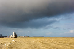Control tower with stormy clouds Stock Images