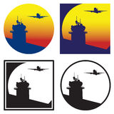 Control tower at sunset Stock Image