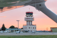 Control tower view landing Royalty Free Stock Photos