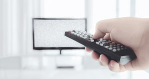 Control tv channel Royalty Free Stock Images