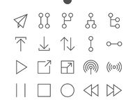 Control UI Pixel Perfect Well-crafted Vector Thin Line Icons 48x48 Ready for 24x24 Grid for Web Graphics and Apps with. Editable Stroke. Simple Minimal stock illustration
