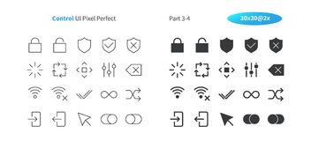 Control UI Pixel Perfect Well-crafted Vector Thin Line And Solid Icons 30 2x Grid for Web Graphics and Apps. Simple Minimal Pictogram Part 3-4 Stock Photo