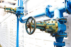 Control valve blue Stock Photos