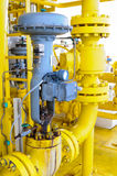 Control valve or pressure regulator in oil and gas process, The control valve used to controlled pressure Royalty Free Stock Photo