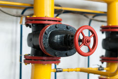 Control valve supplying gas Royalty Free Stock Photos