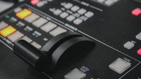 Control video del mezclador imagen de archivo