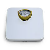 Control weight  by floor scale isolated dieting Royalty Free Stock Photos