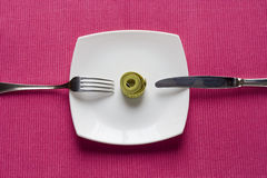Control what you eat Royalty Free Stock Photography