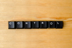 Control word. With keyboard buttons Royalty Free Stock Photography