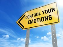 Control your emotions sign stock illustration