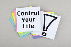 Control Your Life Royalty Free Stock Photos