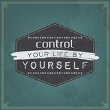 Control your life by yourself Stock Images