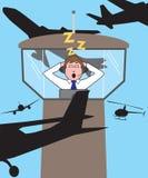 Controlador aéreo Sleeping Imagenes de archivo