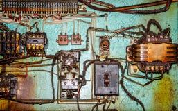 Controlador bonde em uma fábrica velha Fotografia de Stock