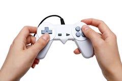 Controlador branco do jogo Foto de Stock Royalty Free
