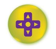 Controlador Button do jogo ilustração royalty free